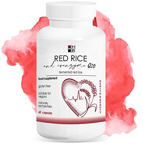 ROTER REIS und COENZYM Q10 | 60 Kapseln | fermentierter roter Reis | mit VITAMIN Q | Italienisches Produkt
