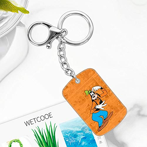 DISNEY COLLECTION Clubhouse Wallpaper Tvshow Comics Cute Goofy Cute Cartoon Metal Keychain Accessory Gift for Girl Women Men Boy Key Ring
