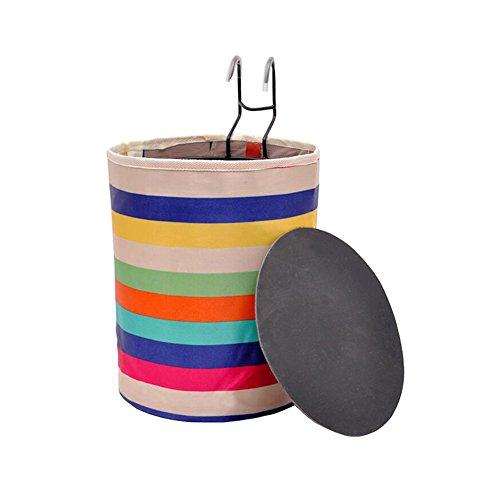 Review DRAGON SONIC Multicolor Canvas Foldable Front Bicycle Basket Portable Basket