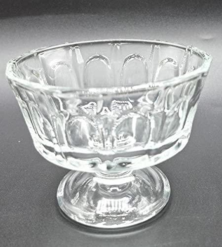 Set de 6 copas de helado de cristal de 10x8cm