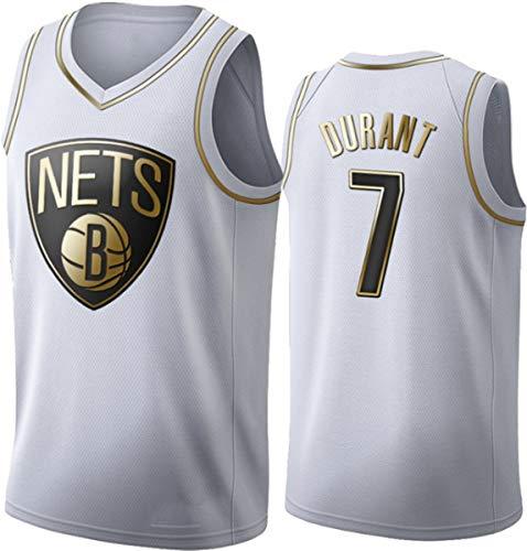 WSUN Kevin Durant NBA Camisetas De Baloncesto para Hombre # 7 NBA Brooklyn Nets Basketball Swingman Edition Camiseta De Malla Chaleco Deportivo Camiseta Sin Mangas Superior,XL(180~185CM/85~95KG)