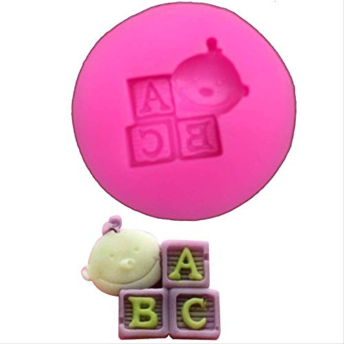 Neutral Baby ABC Shape DIY Fondant Cake Moldes De Silicona Chocolate Jelly Pastry Candy Clay para Cupcake Kitchen Baking Tool