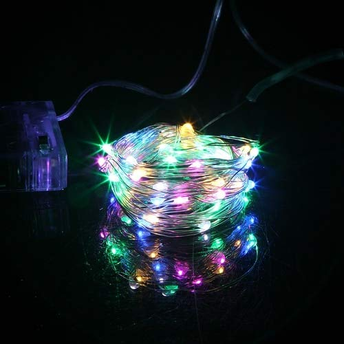 LED Christmas Lights Christmas Wedding Party Decoration LED String Fairy Lights String Lights A4 1m10 LEDs Battery