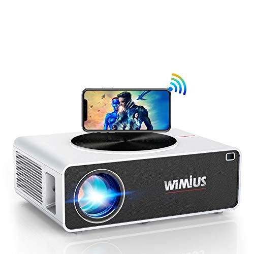 WiMiUS Proyector WiFi Full HD 1080P Proyector de Video Cine En Casa...