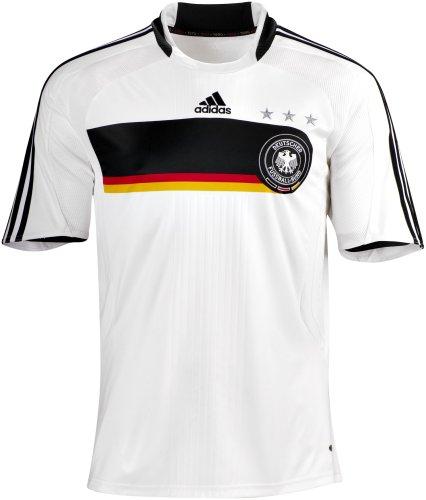 adidas 601718 DFB Home Jersey Y, Trikot DFB Home Trikot Junior, White/Black, GrM-vM-_e: 164
