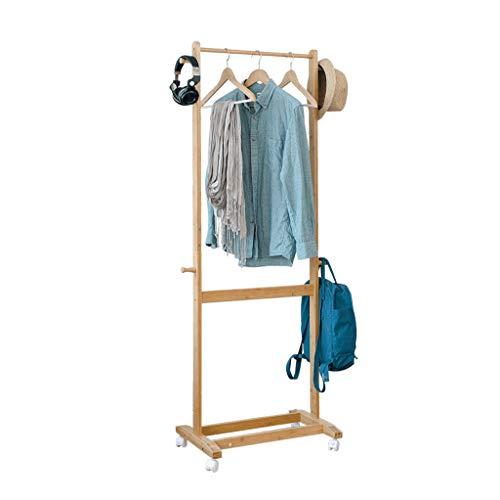 NDDDSD Kapstok, bamboe, slaapkamer, vloer, creatieve mobiele kleerhanger, indoor bamboe, kledingrek, landelijke wind