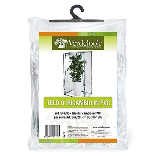 VERDELOOK Telo di ricambio in PVC trasparente per serra da terrazzo con codice: 647/26
