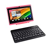 Tablet touch con schermo da 7 pollici, tablet PC con tastiera (AZERTY) Android Quad Core, computer...