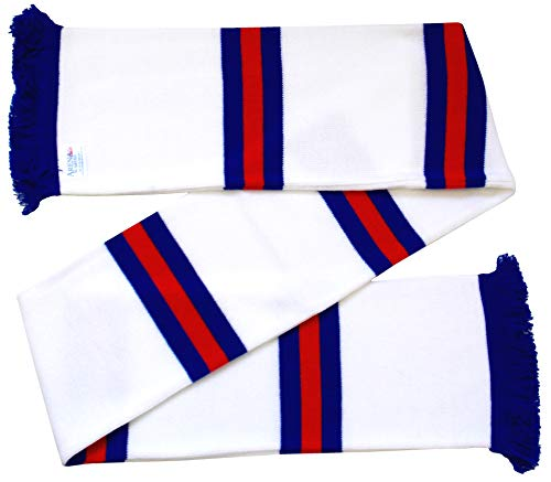 Arena Scarves Rangers Supporters Gestreifter Schal in Away Farben weiß/royal/rot