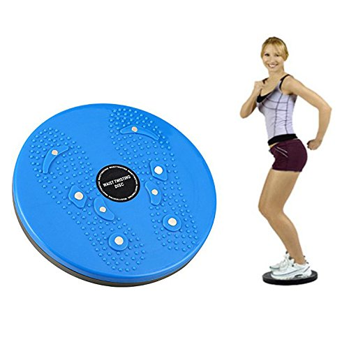 Itian Balance Board Esercizio Attrezzature, per gli Esercizi di Torsione di Vita e Fianchi, per il Fitness e l'allenamento(Blu)