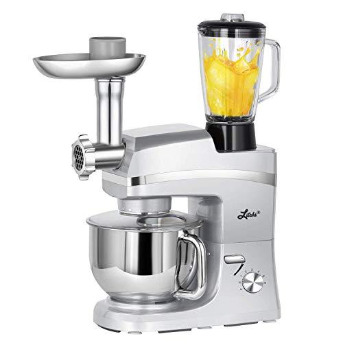 Litchi 5.3 Quart Stand Mixer, 6 Speed Tilt-Head Electric Mixer with...