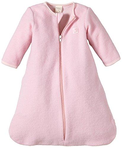 Lana Natural Wear Baby - Mädchen Schlafsack Fleeceschlafsack, Einfarbig, Gr. 60, Rosa (Puder 415)