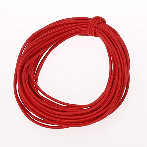 COTOWIN 2 mm Heavy Round Cord Elastic,10 Yards (red, 2mm)