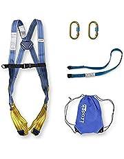 Irudek 100908400008 Sistema de retención HIMALAYA ECO - Arnés anticaidas + 2xMosquetones de acero + cinta anclaje + bolsa nylon