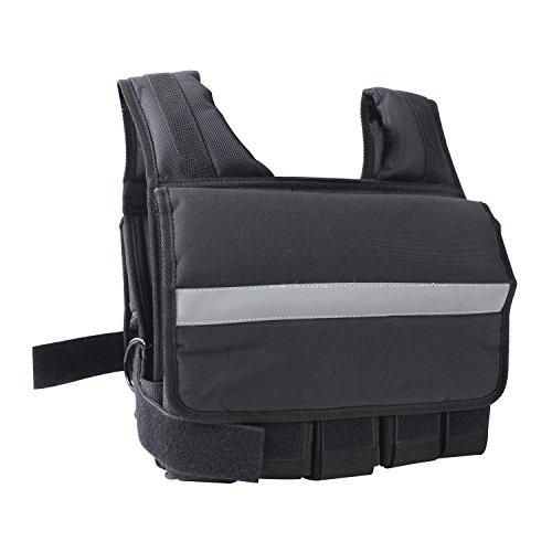 Cap Barbell Unisex's HHWV-CB020S Adjustable Weighted Vest, 20 lb, Short 20-Pound, Black