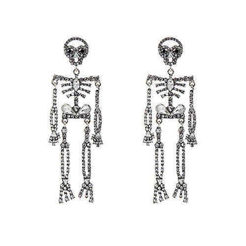 Pendientes de calavera divertidos personalizados pendientes largos pendientes de fiesta de Halloween