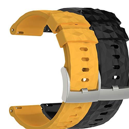 Ruentech - Correa de Repuesto para Reloj Suunto Spartan Sport HR Baro/Suunto 9, Color 2A pcs
