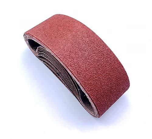 Sanding Belts 3x21 for Belt Sander,Aluminum Oxide Sanderpaper,3 Each of 40 80 120 180 240 400 Grits,18 Pack(3x21 Inch)