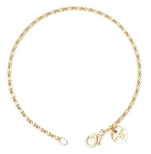 S-Panzerarmband 18kt Gold Doublé 2 mm Länge 23 cm, Armband Herren-Armband Goldarmband Damen Geschenk Schmuck ab Fabrik Italien tendenze SPGYs2-23