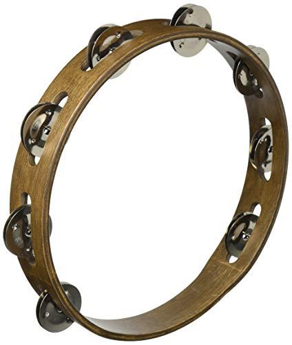 Meinl Percussion TA1WB houten ambourijn met roestvrijstalen klemmen (1-rij, 25,4 cm (10 inch) diameter) walnoot bruin