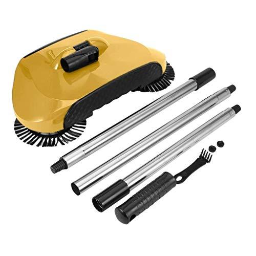 Balayeur de balayeuse de poche ménage automatique Push Push Broom Broom Professionnel Veille-aspirateur Balayant Robot 3in1 Brosse de sol (Couleur: Brown) WANGHN (Color : Brown)