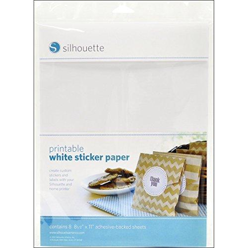 Silhouette Printable White Sticker Paper