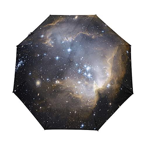 Niebo kosmos galaktyka konstelacja parasol kobiety dziewczyna mężczyźni automatyczne otwarte blisko małe skrzynki deszcz niedziela panie 3 składane