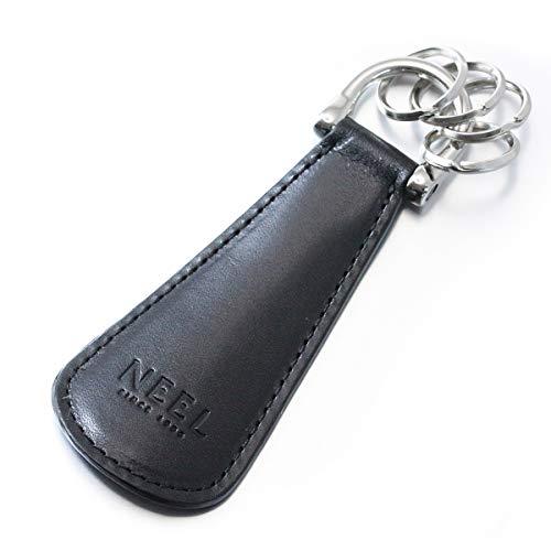 NEEL オリジナル 靴べら 携帯 シューホーン キーホルダー イタリアンレザー ブラック
