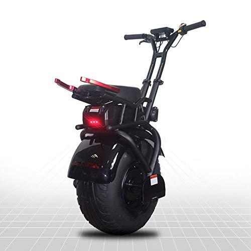 LQQ Motorized smart Balance Scooter Elektro-Balancing Unicycle Selbst, 18-Zoll-Leicht Scooter Bis Zu 25 MPH Intelligent Commuting Scooters Instrumententafel 60V, 30KM 2020