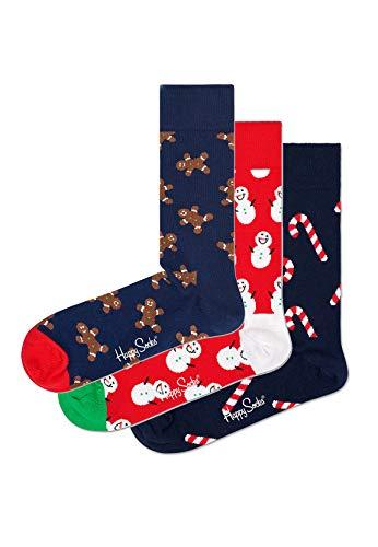 Happy Socks Geschenkbox GINGERBREAD SOCKS GIFT BOX 3-PACK SYGIN08-6500 Mehrfarbig, Size:41-46