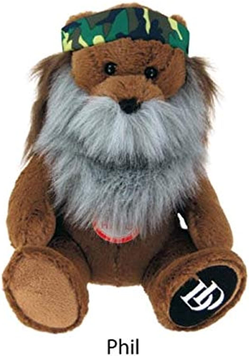 Duck Dynasty Phil 8  Bear Plush With Beard And Sound