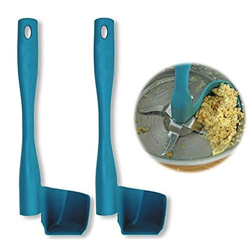 2 Pcs Rotating Scraper, Kitchen Utensil Food Processor Rotation Spatula for Thermomix, TM5, TM6, TM31, Scraper for Pots Wall Prevent Food Waste