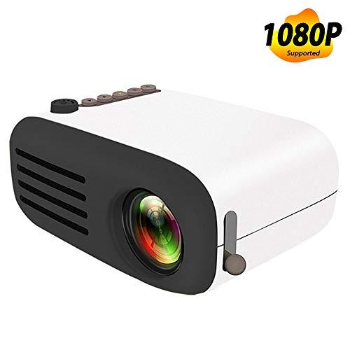 Projektor, Mini-LED-Taschenprojektor Home Beamer Kindergeschenk USB HDMI Video Tragbarer Projektor, 1800 Lumen tragbarer LCD-LED-Projektor Heimkino,Black