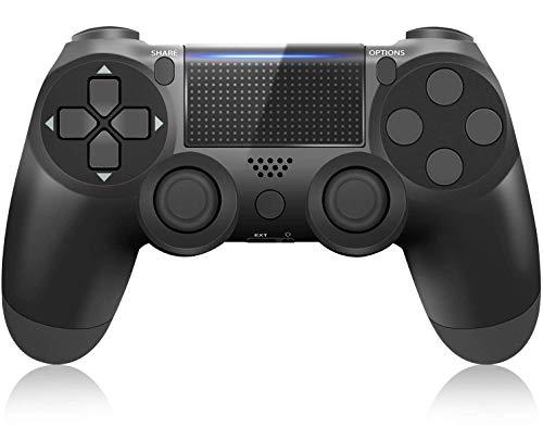 Mando para PS4, Gamepad inalámbrico Controlador Joystick para PS4 / Slim/Pro/PC, Controlador de Juegos con vibración Dual, Altavoz, Sensor giroscópico de 6 Ejes, Conector de Audio