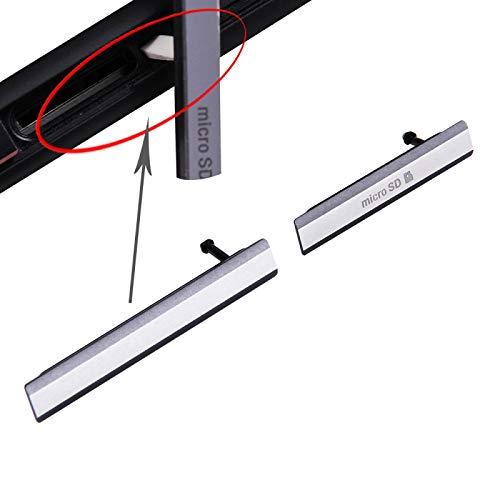 Liaoxig Sony Spare SIM-Kartenkappe + Micro SD-Karten-Kappe Staubdichter Block Set für Sony Xperia Z2 / L50W Sony Spare (Farbe : Black)