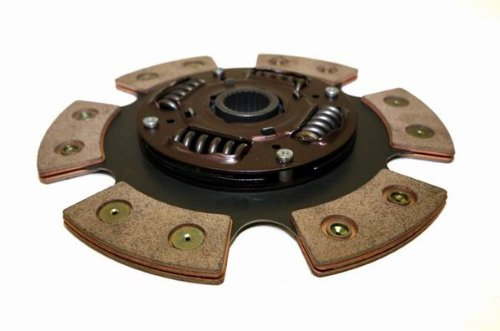 Yonaka Compatible with Honda Civic B Series Sprung Hub Ceramic Performance 6 Puck Clutch Disc