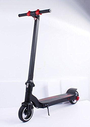 elrofu Unisex-Ausgewachsen KV650 Elektroscooter, Schwarz, Höhe 103 cm, Länge 105 cm, Breite 35 cm