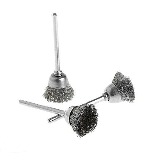 Hothap 3 stuks stalen draadwiel borstel kop schurende deburring drilling tools Bowl-shape-