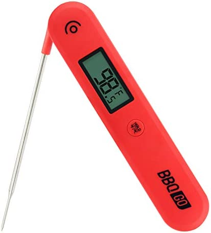 BBQGO Digital Instant Read Thermometer Meat Thermometer with Calibration Magnet Foldable Probe product image