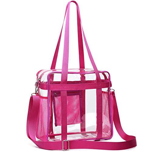 SPEEDEVE Transparent Handtasche wasserdichte Umhängetasche für Männer und Frauen,Rose