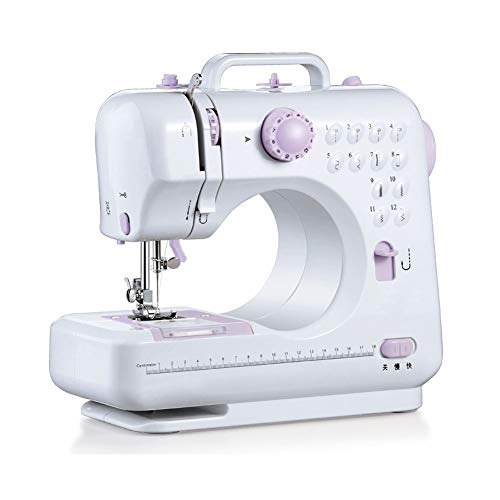 XXCC Dispositivo de Costura doméstica Máquina de Coser de Escritorio Multifuncional con 12 Puntadas, 2 velocidades, luz de Costura LED, máquina de Coser eléctrica del Pedal