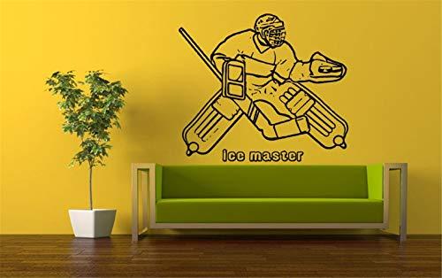 Wandtattoo Wohnzimmer Abziehbilder Raumgestaltung Dekor Eishockey Spieler Torwart Schlittschuhe Sport Kinder Kinderzimmer Jungen Schlafzimmer