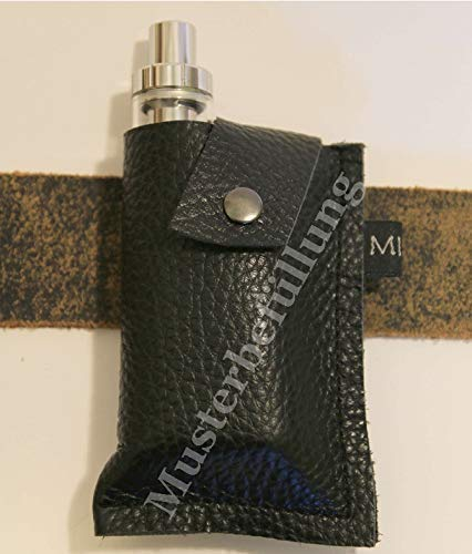 e-Zigarettenetui e Zigarettentasche Leder Etui Gürteltasche e-Zigarette Vape Dampfer Ledertasche z.B. für PICO 75 u.a. e Zigaretten, eShisha