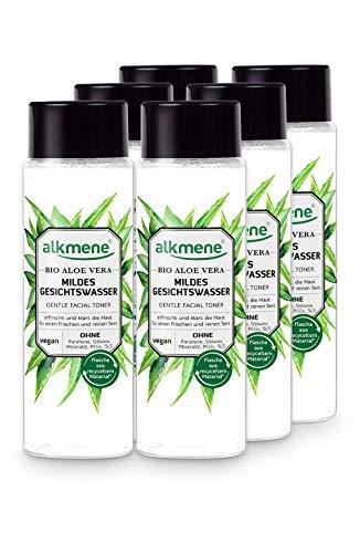 alkmene Gesichtswasser mit Bio Aloe Vera - mildes Gesichtswasser für alle Haut Typen - veganes Gesichtswasser ohne Silikone, Parabene, Mineralöl, PEGs, SLS & SLES im 6er Vorteilspack (6x 200 ml)