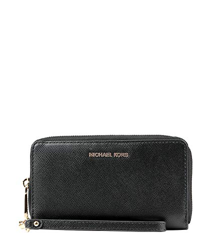 Michael Kors Frau 34F9GTVE9L Accessory-Travel Wallet, Schwarz, Uni