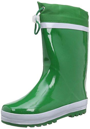 Playshoes Kinder Gummistiefel aus Naturkautschuk, warme Unisex Regenstiefel mit Innenfutter, Grün (grün 29), 20/21 EU