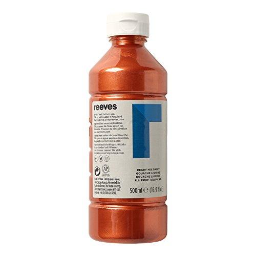 Reeves 4551160 Ready Mix Flasche, 500ml, flüssige Tempera der Spitzenklasse, intensive Farbe - kupfer