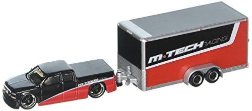 Maisto 1: 64 Tow & Go - 2004 Chevrolet Silverado SS/ Car Trailer Diecast Vehicle
