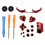 FAMKIT for Xbox One Elite Replacement Full Buttons Bumper Triggers T6 T8 Screwfor Xbox One Controller (Red)