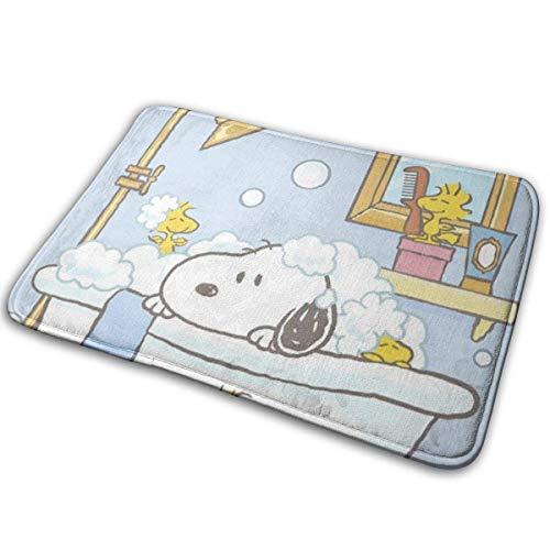 911 AckellyF Welcome Door Mat Snoopy is Taking A Bath Indoor Outdoor Entrance Rug Floor Mats Shoe Scraper 15.7' X 23.5'